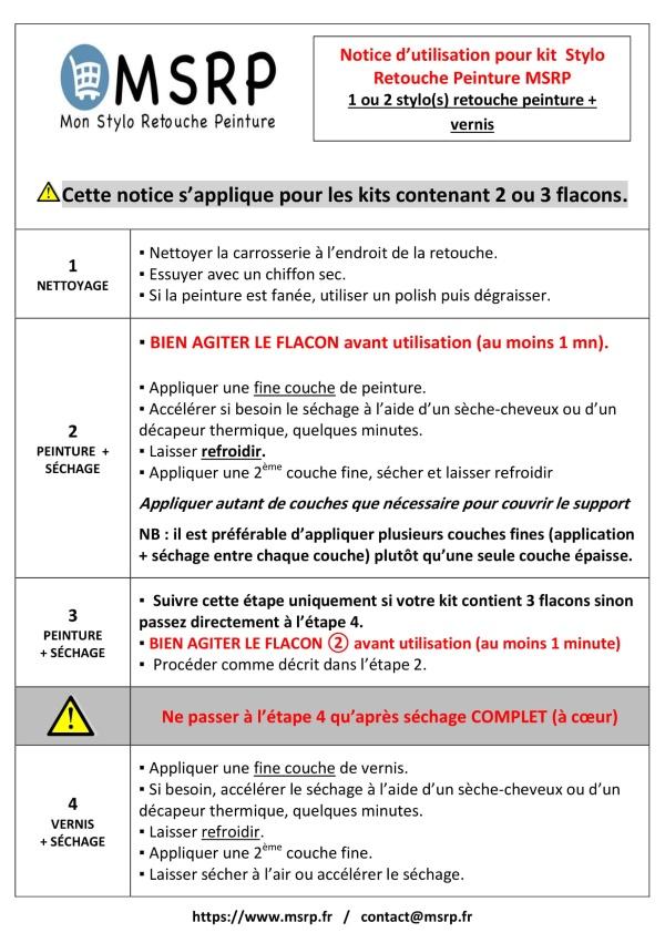 Notice en Franàcais