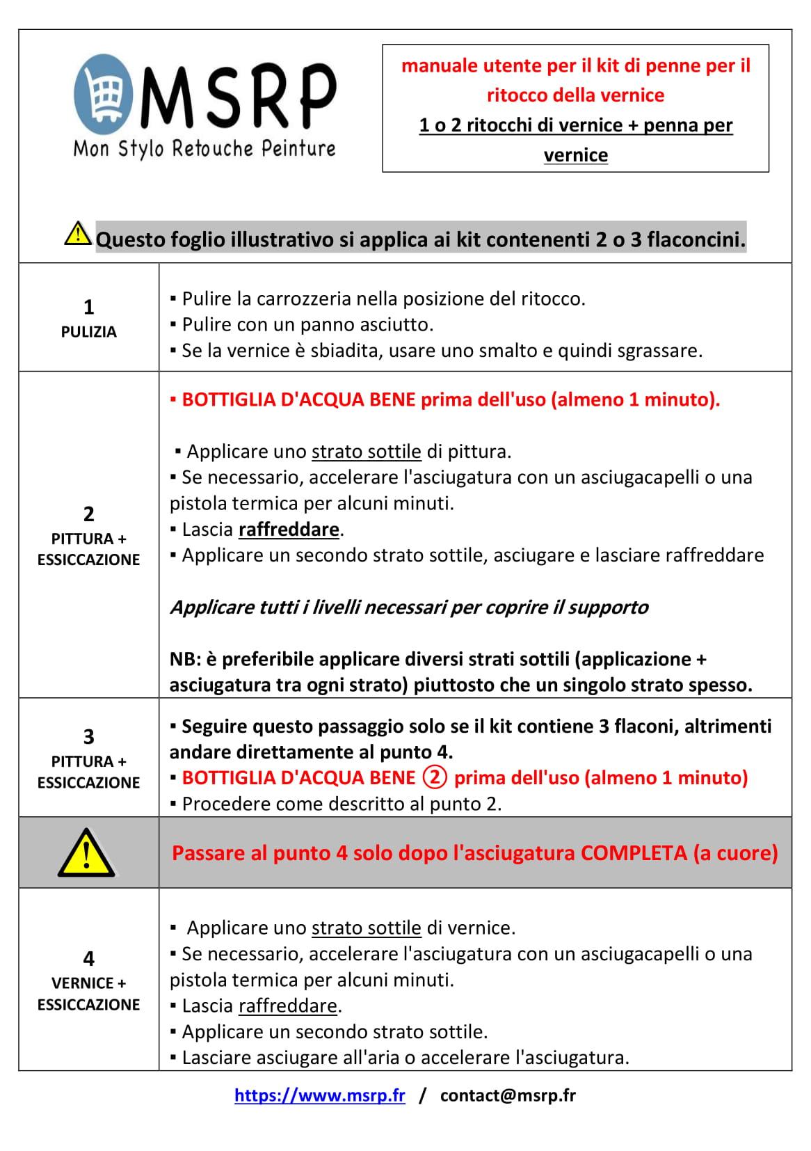 Notice en Italien